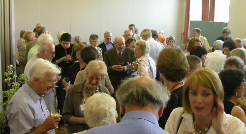 An initial social gathering at a Summer School