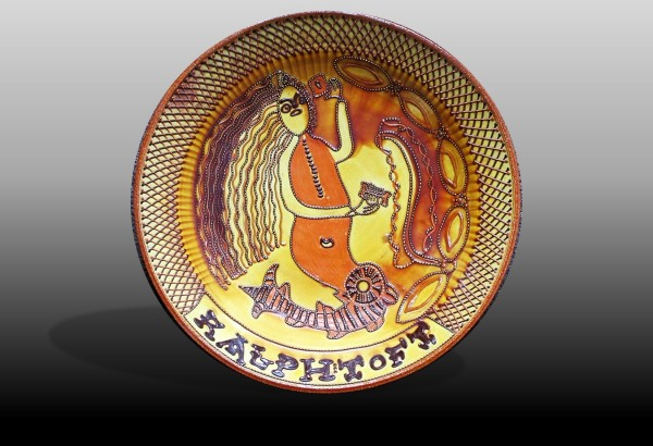 modern copy of a Ralph Toft slipware dish